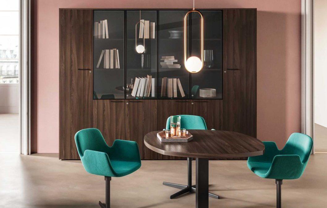 Wooden Side Round Desk