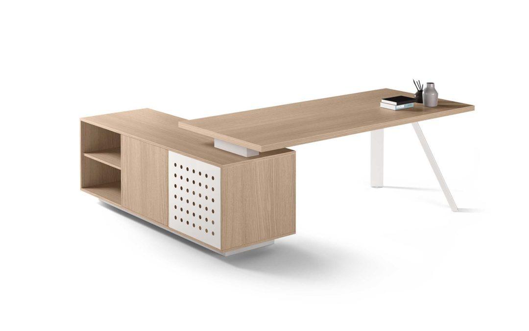K Leg Desk w Storage